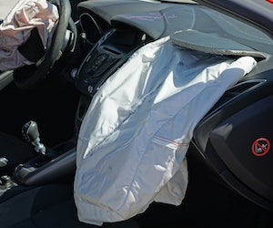 cars with airbags deployed